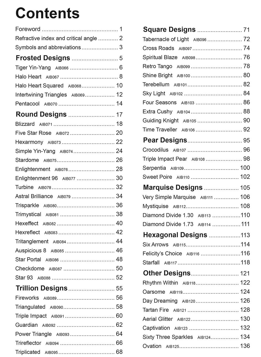 Andrew Brown Faceting Design
