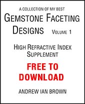 A collection of my best Gemstone Faceting Designs Volume 1 Cover gem facet diagrams